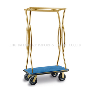 Hotel luxury 304 Stainless Steel used Luggage Cart