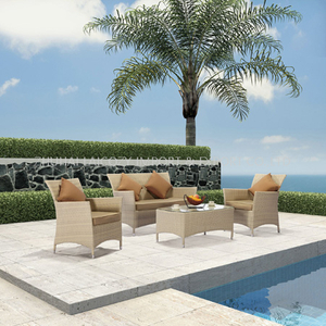 Outdoor Luxury aluminium PE rattan furniture