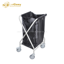 Stainless Steel black bag Foldable Hamper Laundry Carts