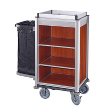 Hotel Aluminum Guestroom Cleaning Compact Housekeeping Maid Cart