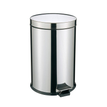 Hotel indoor pedal dustbin Stainless Steel