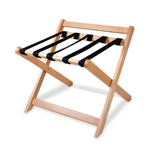 Foldable hotel solid wooden cabinet luggage rack