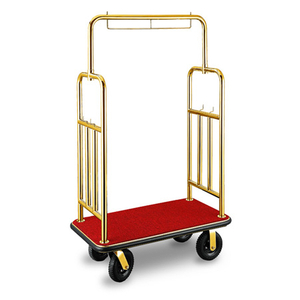 Hotel popular stainless steel luggage carts
