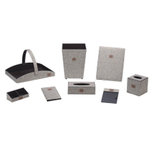 Good quality guestroom leather organiser set for starhotels