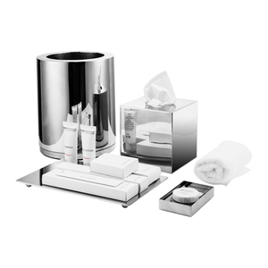Luxury Hotel Dustbin Tissue Box Bathroom Set