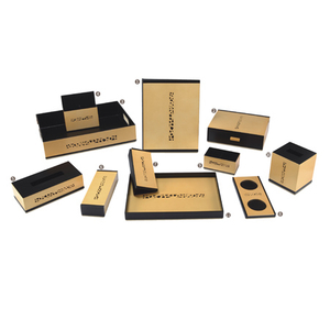 Westin high-end star hotel desktop leather set